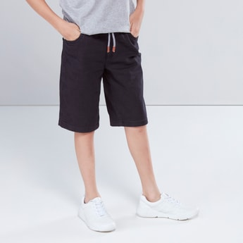 Pull-On Shorts with Drawstring Closure