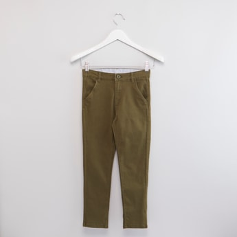 Plain Chinos with Pockets and Belt Loops