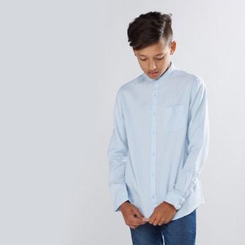 Mandarin Collar Long Sleeves Shirt