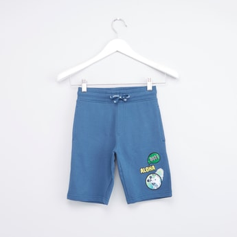 Mickey Mouse Embroidered Applique Shorts
