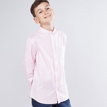 Mandarin Collar Long Sleeves Shirt