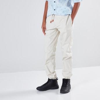 Solid Jog Pants with Pocket Detail