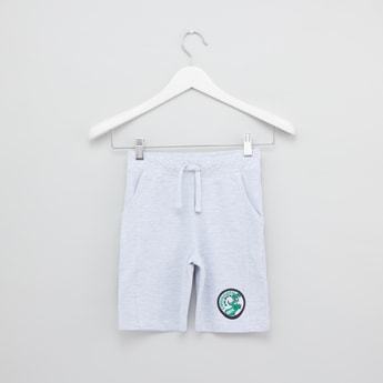 Textured Shorts with Drawstring