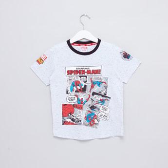 Spider-Man Printed Round Neck T-Shirt