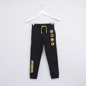 Avengers Printed Jog Pants with Pocket Detail