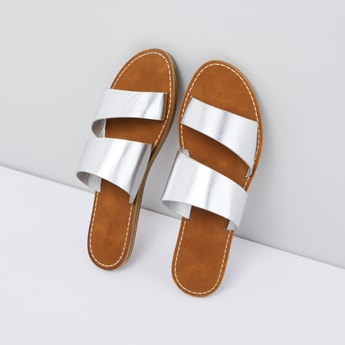 Dual Strap Slip-On Slides