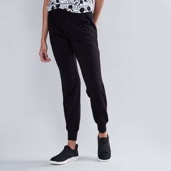 Full Length Mid-Rise Joggers with Pocket Detail and Drawstring