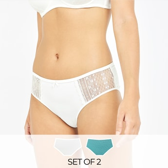Set of 2 - Assorted Hipsters with Elasticised Waistband