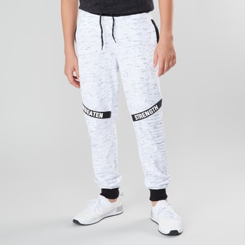 Printed Joggers with Drawstring Closure