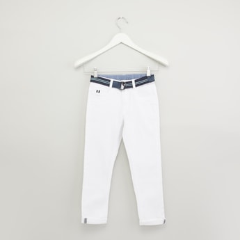 Full Length Pants with Pocket Detail and Belt