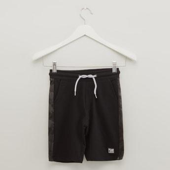 Shorts with Elasticated Drawstring Waistband