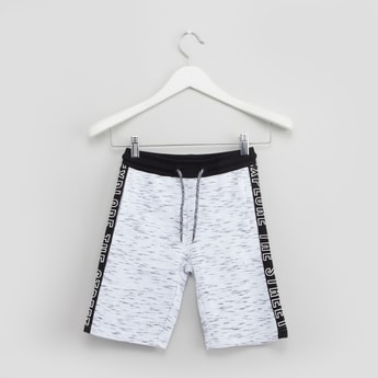 Printed Shorts with 3-Pockets and Drawstring Closure