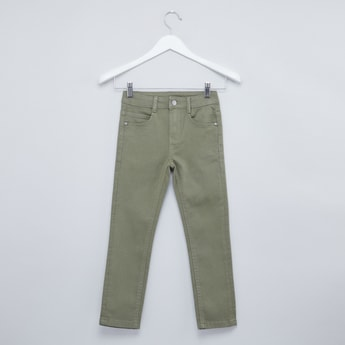 Plain Jeans with Belt Loops and Pocket Detail