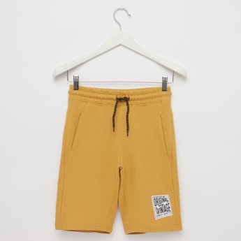 Knitted Shorts with Pocket Detail and Drawstring