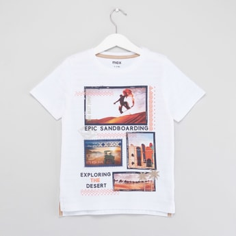Desert Print T-shirt with Short Sleeves