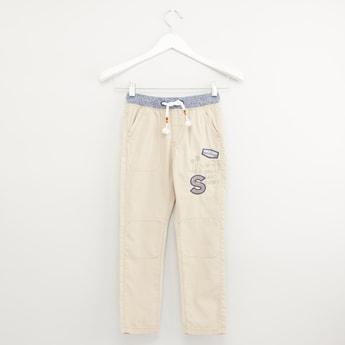 Printed Jog Pants with Pocket Detail and Drawstring Waistband