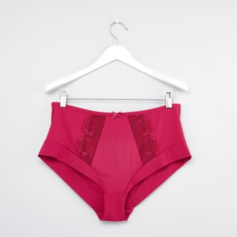 Hipster Briefs with Floral Lace Inserts