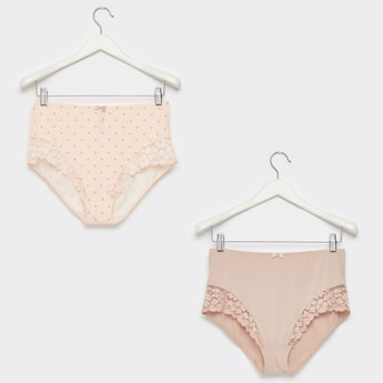 Pack of 2 - Lace Detail Full Briefs