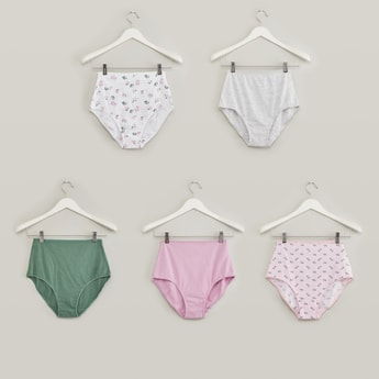Set of 5 - Assorted Hipster Briefs with Elasticised Waistband
