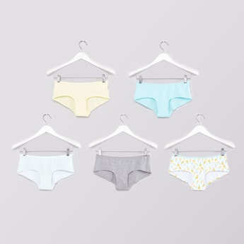 Set of 5 - Assorted Boyshorts with Elasticated Waistband