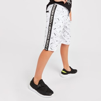 All Over Print Shorts with Pockets and Drawstring