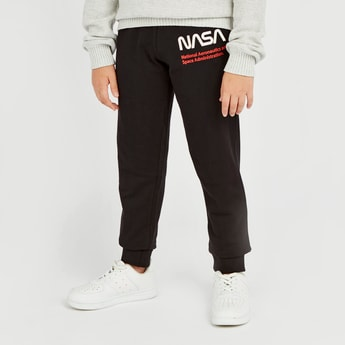 NASA Print Jog Pants with Elasticised Waistband