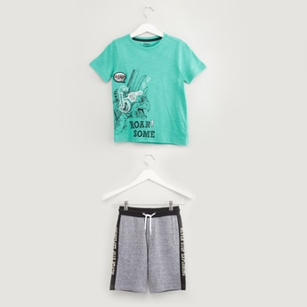 Foil Print T-shirt with Shorts