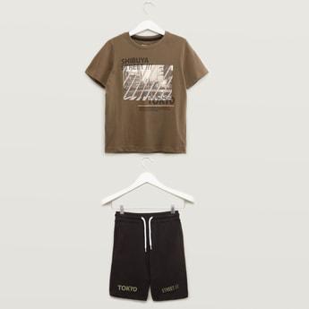 Tokyo Printed T-shirt and Shorts Set