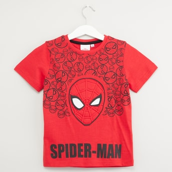 Spider-Man Embossed T-shirt with Short Sleeves