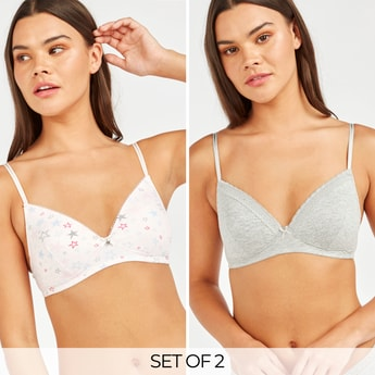 Set of 2 - Assorted T-shirt Bra