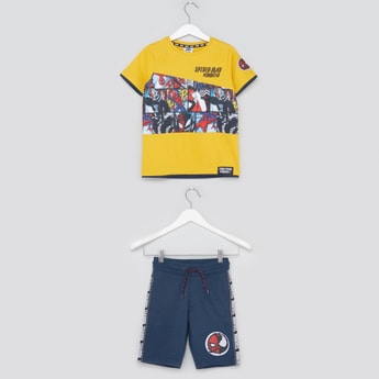 Spider-Man Print T-shirt and Shorts Set