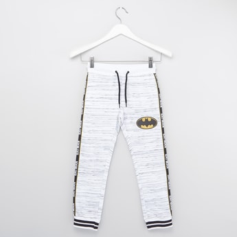 Batman Print Jog Pants with Drawstring