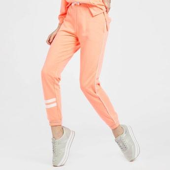 Full Length Solid Jog Pants with Pocket Detail and Drawstring Closure