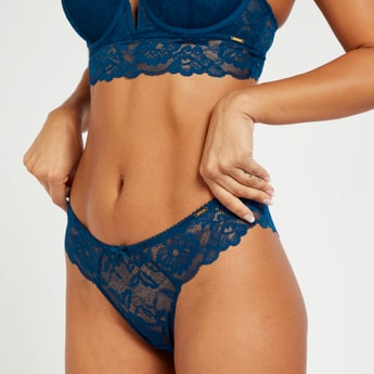 Lace Brazilian Briefs with Elasticised Waistband