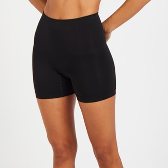 Solid Boyleg Shaping Brief with Elasticated Waistband