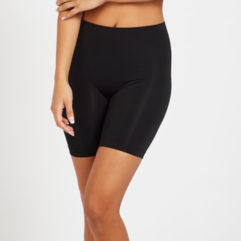Solid Shaping Leggings with Elasticated Waistband
