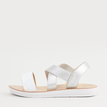 Strappy Flats with Slingback Strap