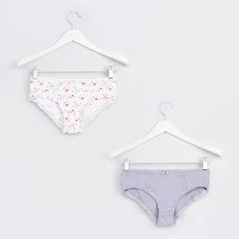 Lace Detail Boy Shorts Briefs - Set of 2