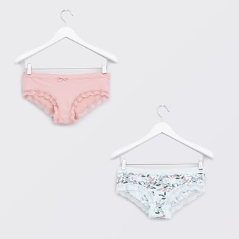 Set of 2 - Lace Detail Hipster Briefs