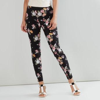 Floral Printed Full Length Legging
