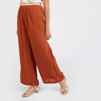 Striped Palazzo Pants with Elasticised Waistband