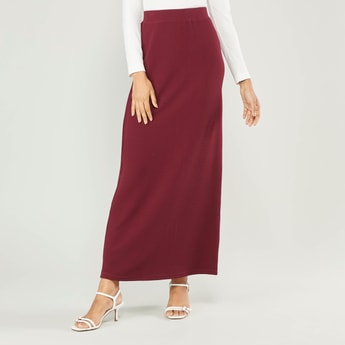 Textured Maxi Skirt