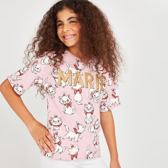 Marie All Over Print T-shirt with Short Sleeves