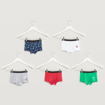 Set of 5 - Assorted Trunks with Wide Elasticised Waistband