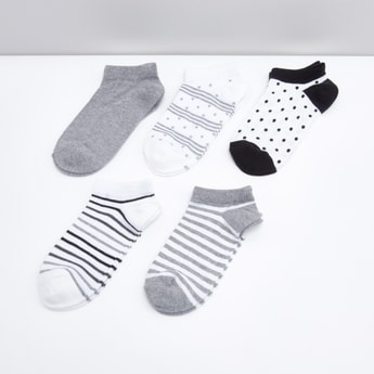 Set of 5 - Assorted Printed Cotton Socks