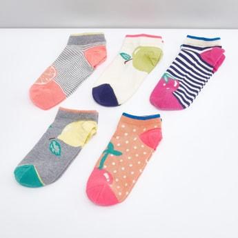 Set of 5 - Assorted Printed Ankle Socks