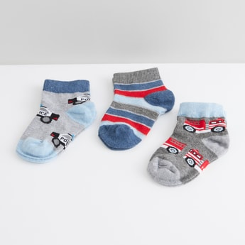 Printed Ankle Length Socks - Set of 3