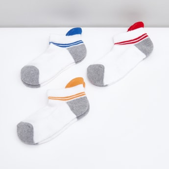 Set of 3 - Printed Ankle Length Sports Socks