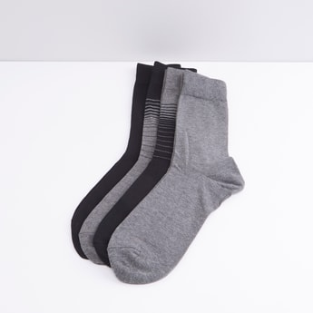 Crew Length Socks - Set of 4