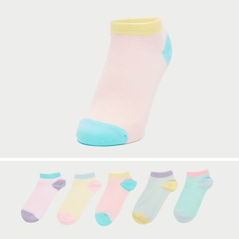 Set of 5 - Striped Ankle Socks